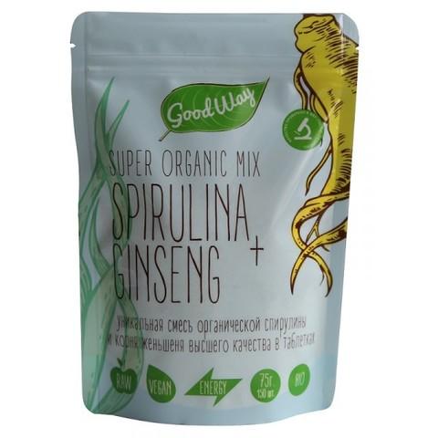 Спирулина+корень женьшеня микс таблетки, 150 шт. (Белогуб)