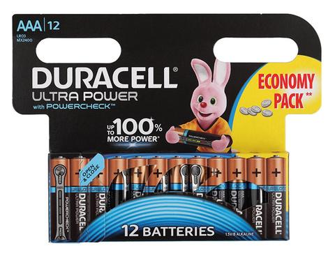 Батарея Duracell Ultra Power LR03-12BL MX2400 AAA (12шт)