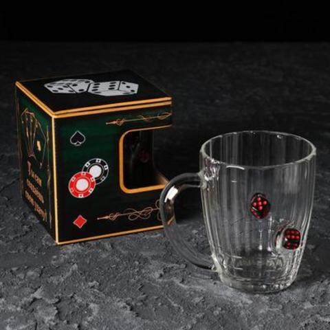 Кружка «Непробиваемая», игральные кости, для пива, 500 мл