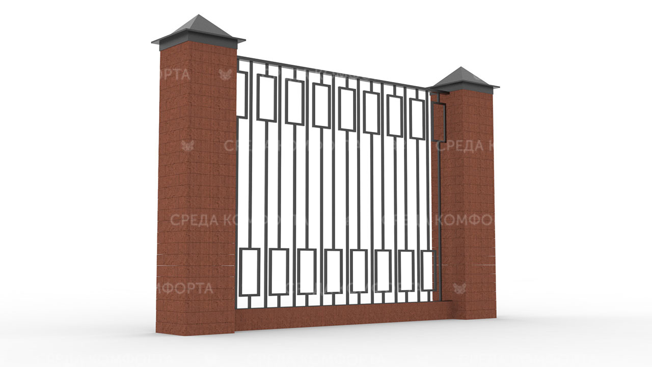 Забор из профильной трубы ZBR0166