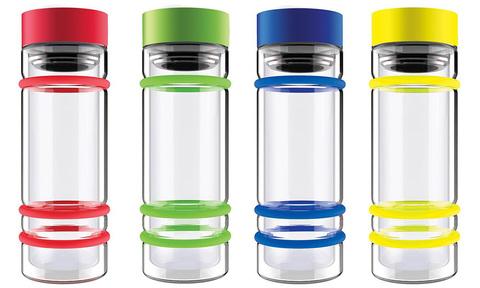 Бутылка Asobu Bumper (0,4 литра), красная