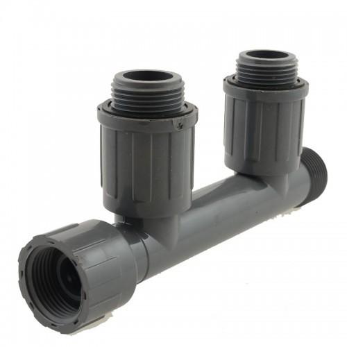 Коллектор для 2-х клапанов автополива 1