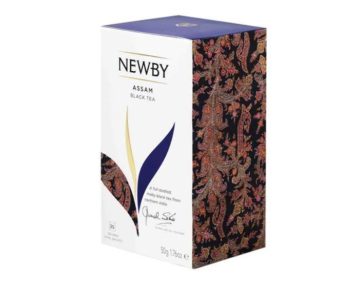 Чай черный в пакетиках Newby Assam, 25 пак/уп