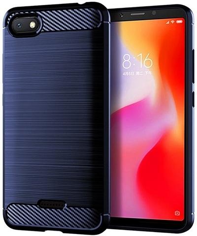 Чехол для Xiaomi Redmi 6A цвет Blue (синий), серия Carbon от Caseport