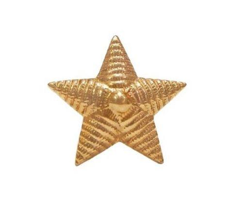 Звезда на погоны мет. 13 мм риф. зол.