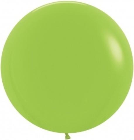 №8 Светло Зелёный Гелиевый шар пастель 45см с обработкой