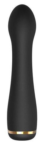 Черный вибромассажер Juliette для массажа G-точки - 14,4 см.