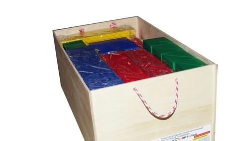 Напольный конструктор Строитель деревянный 124 детали