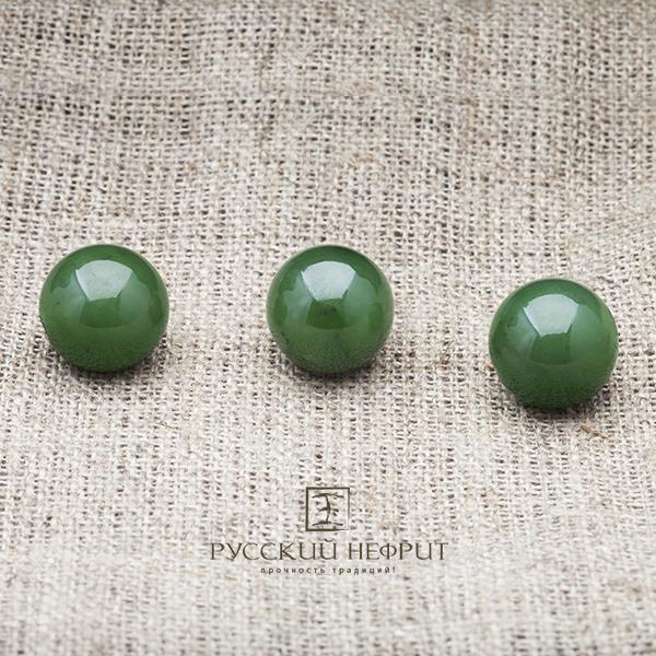 Вставки Шарик 12мм. Зелёный нефрит (класс модэ). businy_zel_12_2.jpg