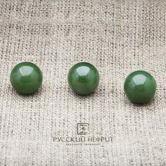 Шарик 12мм. Зелёный нефрит (класс модэ).