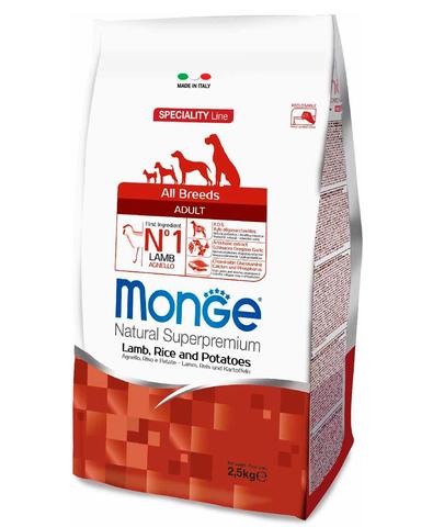 Monge Dog Speciality Puppy&Junior корм для щенков всех пород ягненок с рисом 2,5 кг