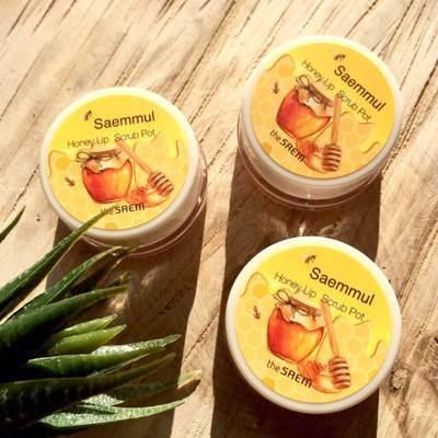 Медовый скраб для губ The Saem Saemmul Honey Lip Scrub Pot