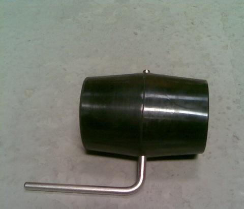 13241563 Кран вакуумный в резиновой муфте в сборе диа. 63 мм
