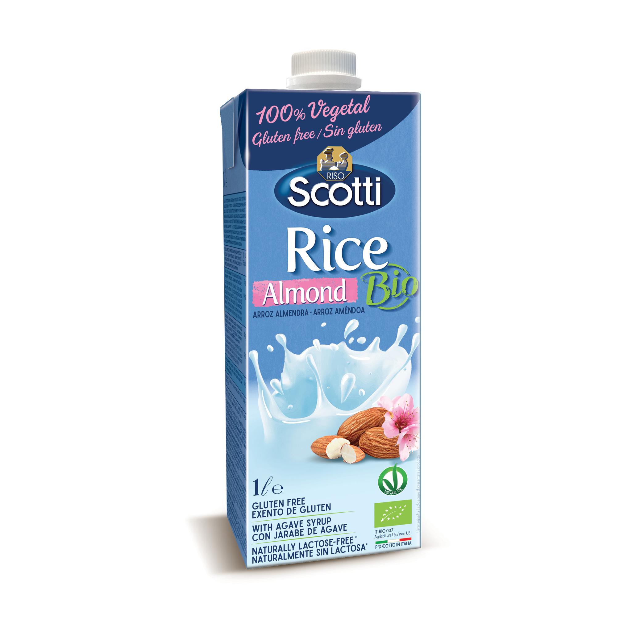 Органический рисовый напиток с миндалём 1л