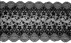 Эластичное кружево, ОПТ, 20см, чёрное, (Арт:EK-1063), м