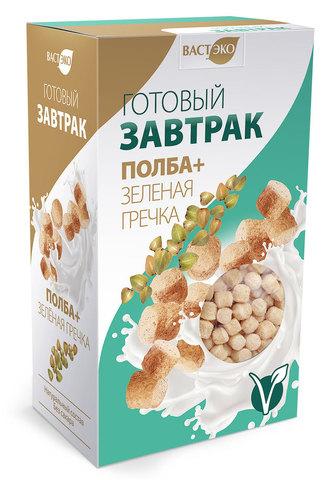Готовый завтрак Полба+Зеленая гречка шарики, 150 гр. (ВАСТЭКО)
