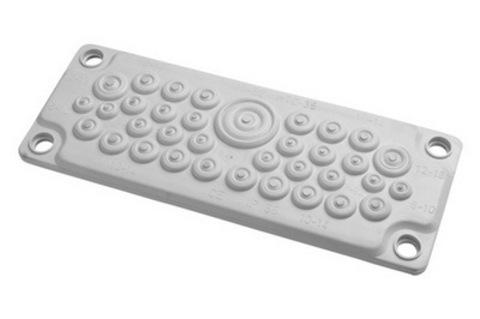Кабельный ввод, пластик V0 UL94, IP65,  +130 - 40, 35 отверстий