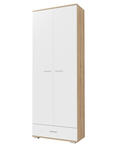Шкаф  ИТАЛИЯ ШК1Я-800 дуб сонома / белый глянец