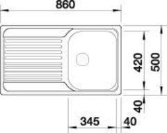 Мойка Blanco Tipo 45S - схема