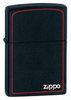 Зажигалка Zippo № 218ZB с покрытием Black Matte, латунь/сталь, чёрная с фирменным логотипом