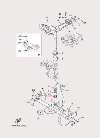 Втулка поворотного кронштейна для лодочного мотора F9,9 Sea-PRO (22-8)