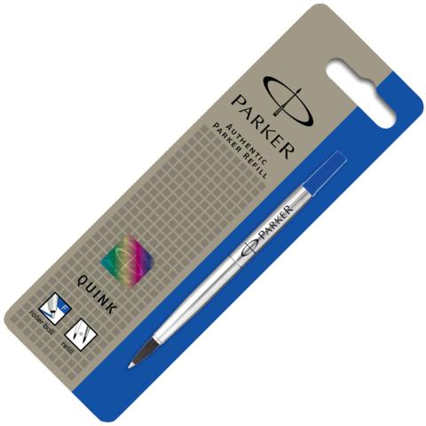 Parker Стержень для ручки-роллера, F, синий (в блистере)