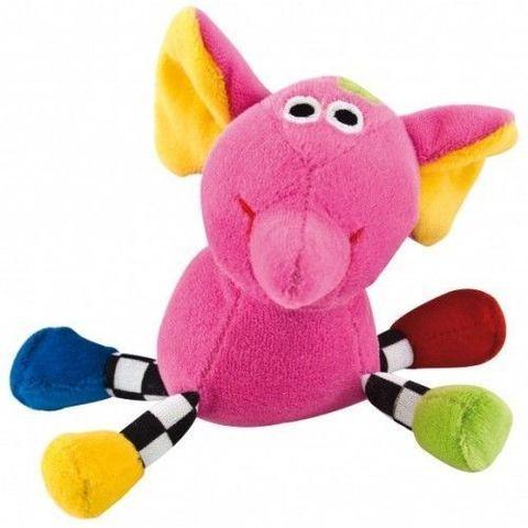 Canpol babies. Погремушка Сумасшедшие животные, 0+, слон розовый