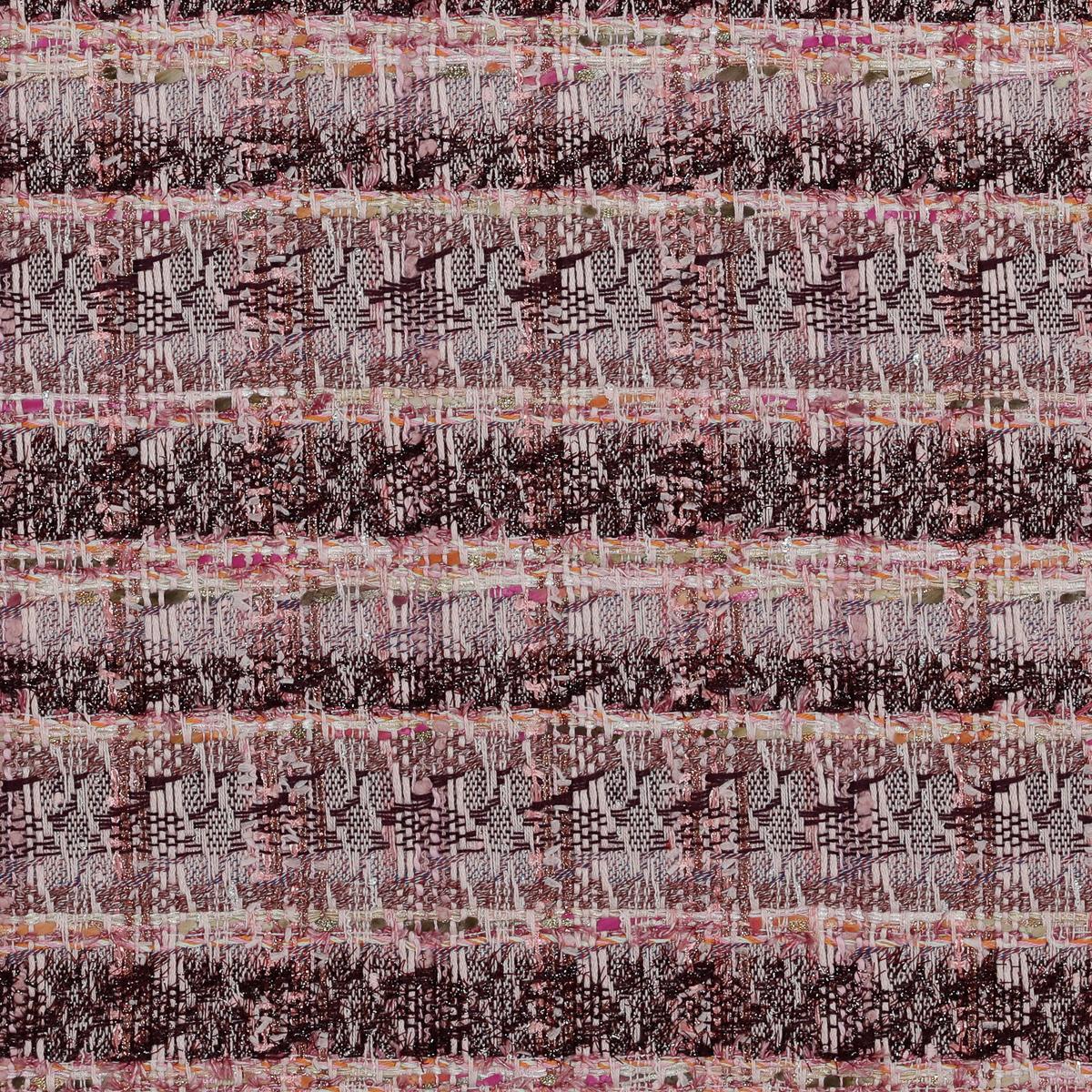 """Рогожка из фасонных нитей нежных оттенков розового, сиреневого и """"медными"""" акцентами"""