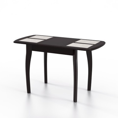 Стол обеденный Домино-1  раскладной с плиткой венге, амбер