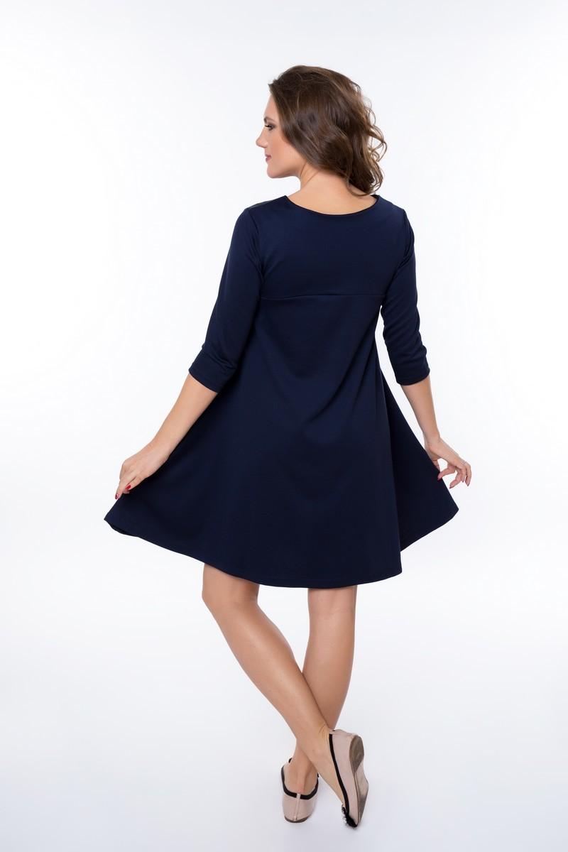 Платье для беременных 09013 синий