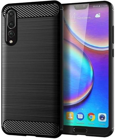 Чехол для Huawei P20 Pro цвет Black (черный), серия Carbon от Caseport