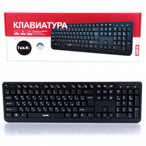 Клавиатура компьютерная Havit HV-KB378 USB черная