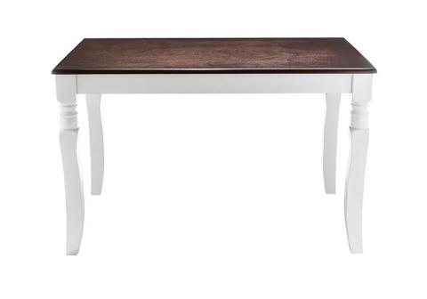 Стол деревянный кухонный, обеденный, для гостиной Provance white / oak 80*80*74