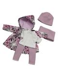 Комплект с плащем - Лиловый. Одежда для кукол, пупсов и мягких игрушек.