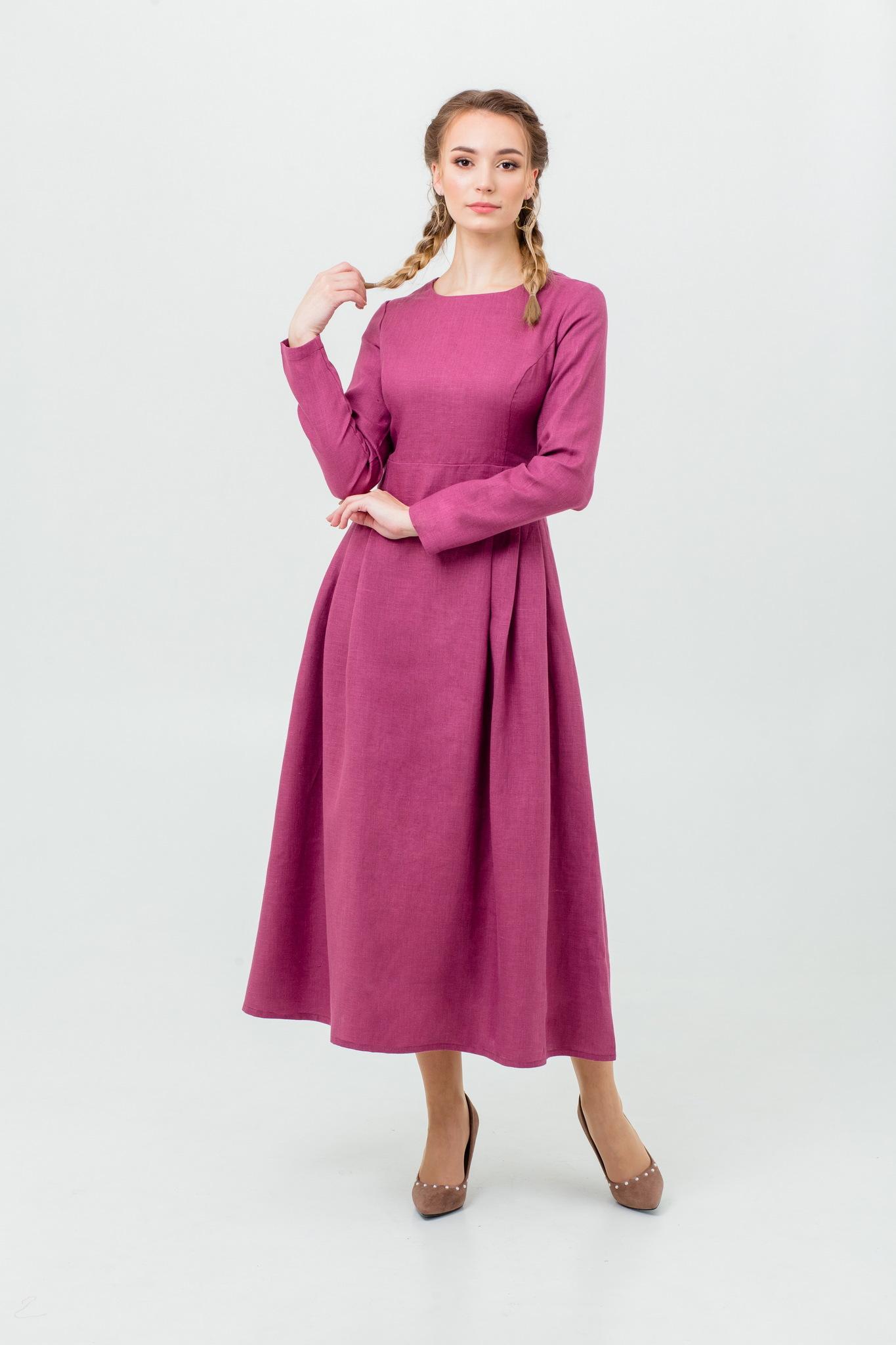 Платье из льна Ежевика