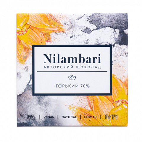 Nilambari шоколад горький 70% 65 г