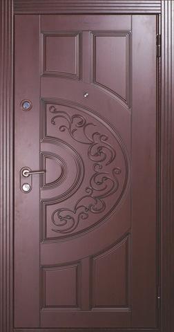 Дверь входная Бульдорс Lux 25 P-1 стальная, черное дерево с патиной, 2 замка