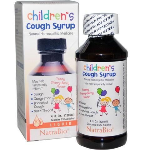 NatraBio, NatraBio, Детский сироп от кашля с вишневым вкусом, 4 жидких унции (120 мл)