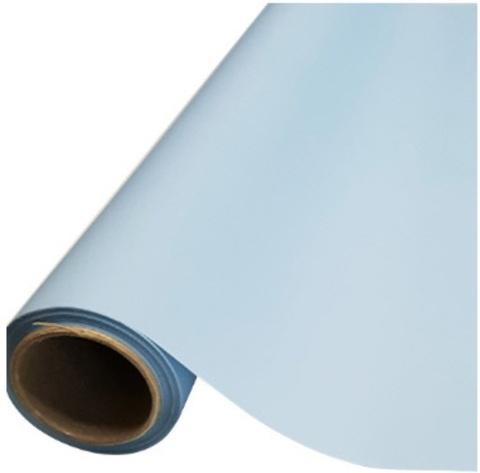 Пленка матовая (размер:65см х 10м), цвет: голубой