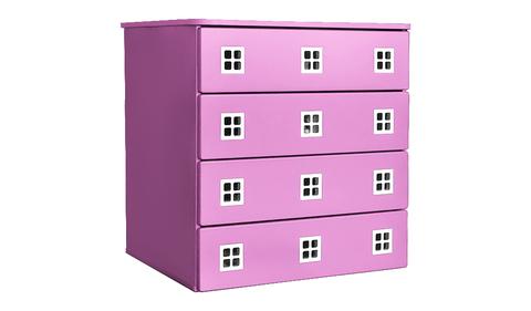 Комод для детской комнаты розовый
