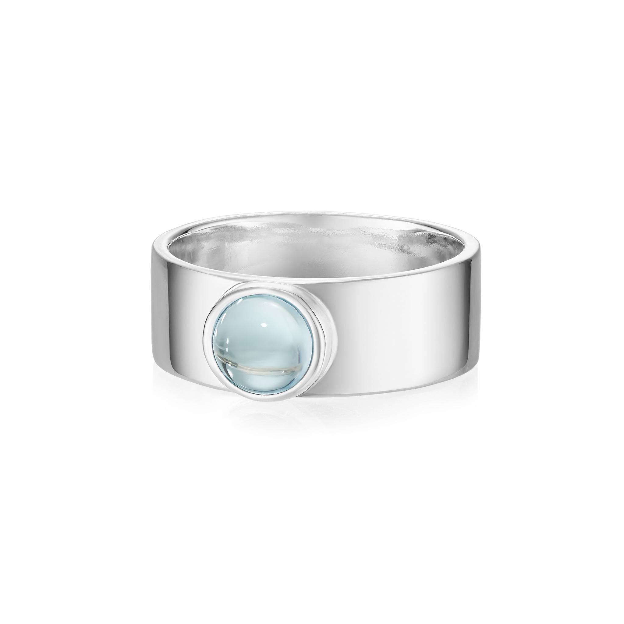 Кольцо THETA с голубым топазом