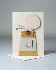 Открытка «С Днём Рождения!» с мишкой, 9,5×13,3 см