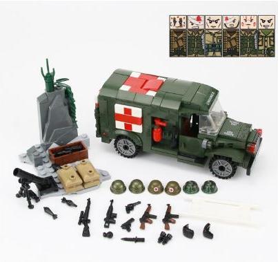 Конструктор серия Армия Военная санитарная машина