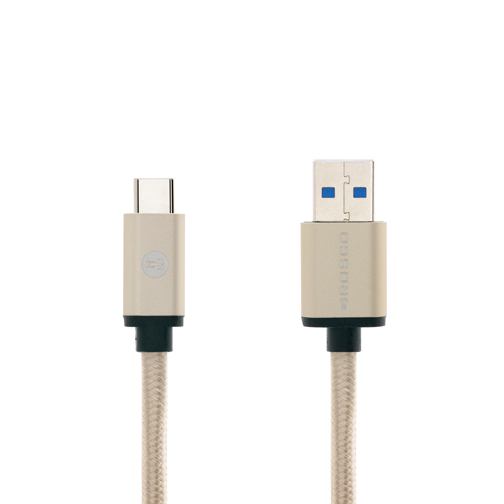 Кабель Brosco USB-C золотого цвета купить в Sony Centre