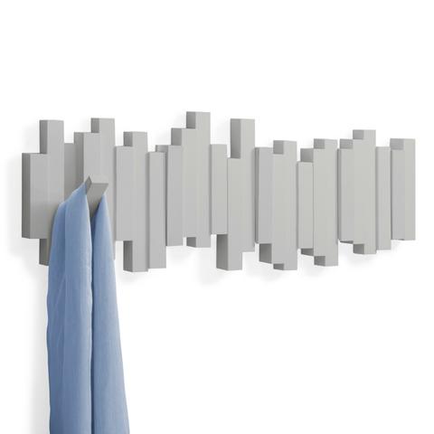 Вешалка настенная Sticks серая