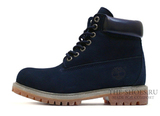 Ботинки Timberland 6 Inch Premium  17061 Waterproof Dark Blue Женские С Мехом Rust