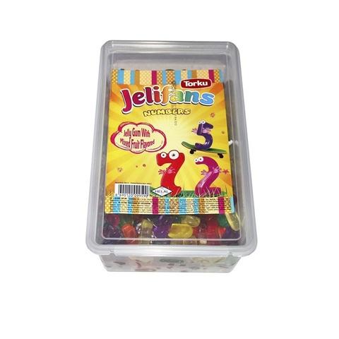 JELIFANS желейные конфеты цифры  1кор*8бл*1шт 900гр
