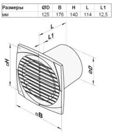 Накладной вентилятор Вентс 100 С