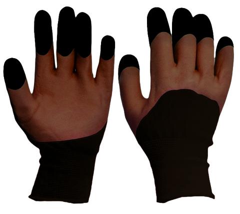 Перчатки нейлоновые с двойным вспененным латексом
