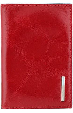 Обложка для паспорта Piquadro Blue Square, красная, 13,5x9x0,5 см